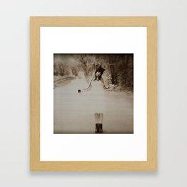 i can tell Framed Art Print