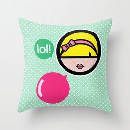 Niña Pija Throw Pillow