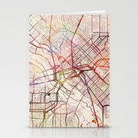 dallas Stationery Cards featuring Dallas by MapMapMaps.Watercolors
