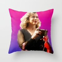 river song Throw Pillows featuring Doctor Song by Taylor Bookout