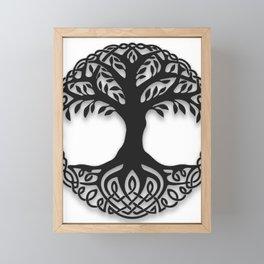 Yggdrasil, the northsmen tree of life Framed Mini Art Print