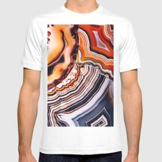The Earth and Sky teach us more White MEDIUM Mens Fitted Tee