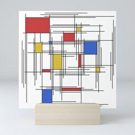 Mondrian Scratch Art 1 Mini Art Print