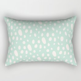 Bohemian Pebbles - light blue and cream dot pattern Rectangular Pillow