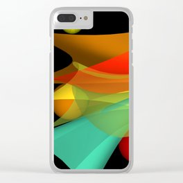 floating colors -a- Clear iPhone Case