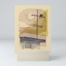 Romantic birds Mini Art Print