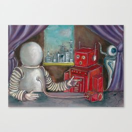 Robo Relations Canvas Print