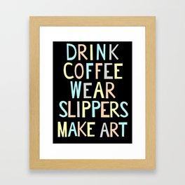 Wear Slippers - Art for Artists Framed Art Print
