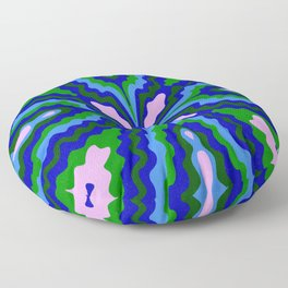 ¡ fiesta ! blue & green Floor Pillow