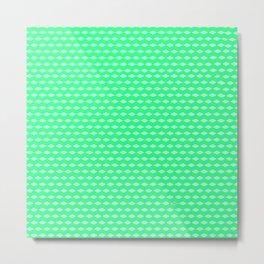 Lime Cube Tiles Metal Print