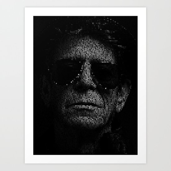 LOU REED, SO FREE. Art Print