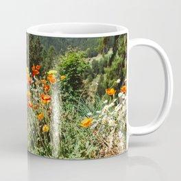Mountain garden in Switzerland mountains Coffee Mug