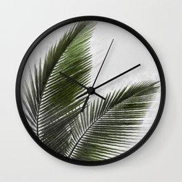 Palm leaf drawing Wall Clock