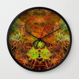 Smoky Leaf Pile Wall Clock