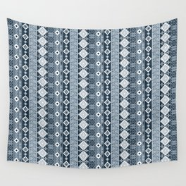 Colorful Aztec pattern with dirty blue. Wall Tapestry
