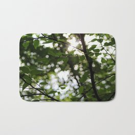 Early Morning Forest Hike Bath Mat