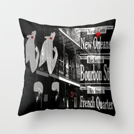 New Orleans and Marilyn Throw Pillow