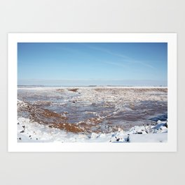 Snow on the Bay of Fundy Art Print