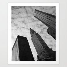 NY clouds Art Print