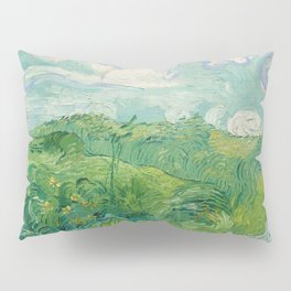 Green Wheat Fields, Auvers, 1890, Vincent van Gogh Pillow Sham