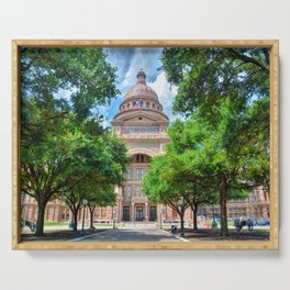 Texas State Capital Serving Tray