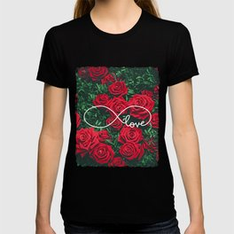 Red Roses Photography & Infinity Love Sign T-shirt