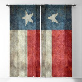 Texas state flag, Vintage banner version Blackout Curtain