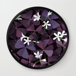 Oxalis charmed velvet Wall Clock
