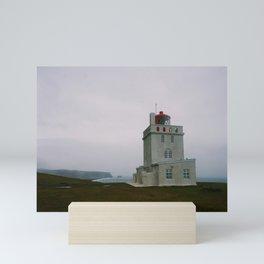 Dyrhólaey Lighthouse, Iceland Mini Art Print