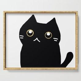 Black cat 589 Serving Tray