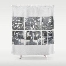 Fade 2 Grey Shower Curtain