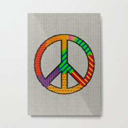 Knitting Peace Metal Print