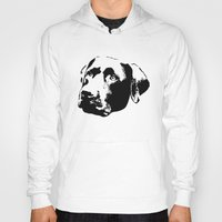 lab Hoodies featuring Chocolate Lab by MIX INX