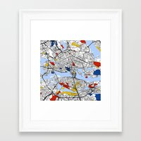 stockholm Framed Art Prints featuring Stockholm by Mondrian Maps