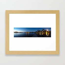 Full Moon Sunset on Canyon Lake Framed Art Print