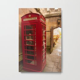A tucked away booth Metal Print