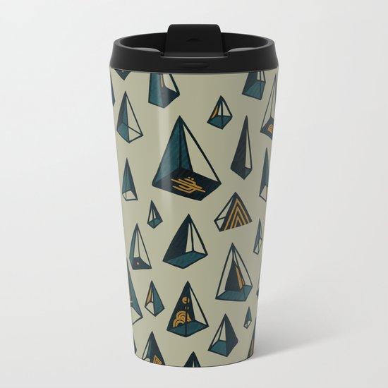 Triangles Are My Favorite Shape Metal Travel Mug
