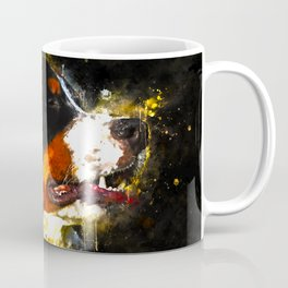 bernese mountain dog splatter watercolor Coffee Mug