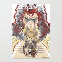 wolf warrior Canvas Print