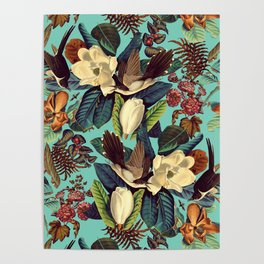 FLORAL AND BIRDS XXI Poster