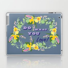 Do What You Love Typography Illustrated Print Laptop & iPad Skin