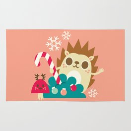 Holiday Hedgehog / Cute Animal Rug