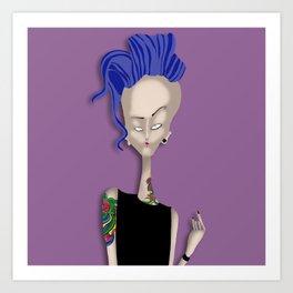 Mrs Ink Art Print