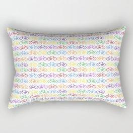 Colorful Bicycles Rectangular Pillow