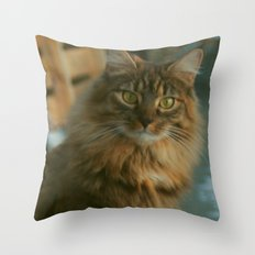-WhatsUp Cat- Throw Pillow