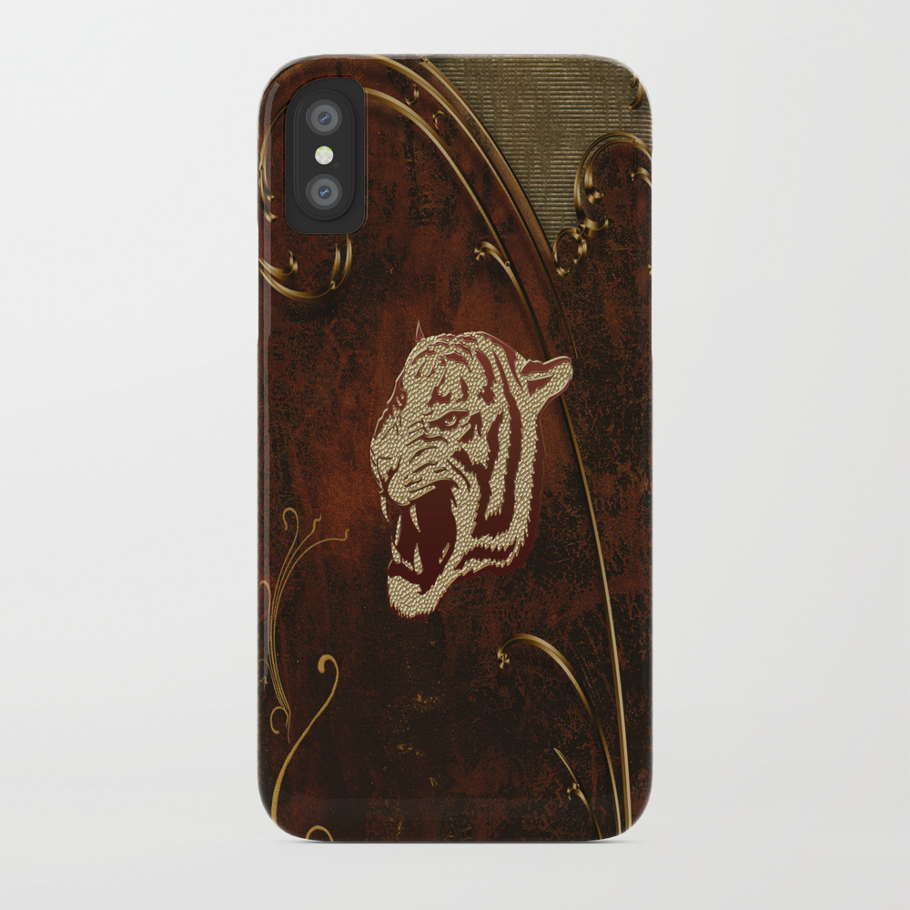 Wonderful Tiger Head, Golden Colors Phone Case by Nicky2342 PCS7979198