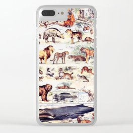Vintage Antique Wildlife Encyclopedia Print Clear iPhone Case