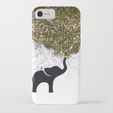 elephant w/ glitter iPhone 7 Slim Case