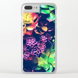 Colorful Plants Clear iPhone Case