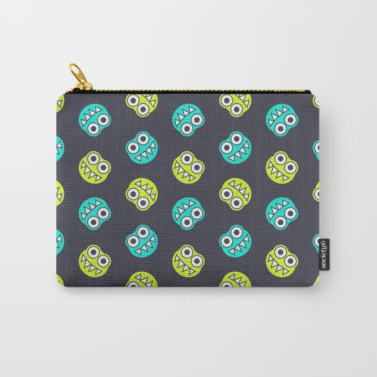 Blue Green Cute Bugs Pattern Carry-All Pouch